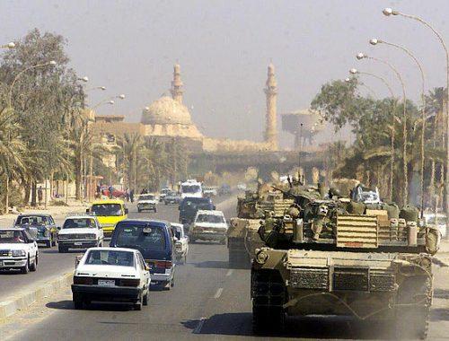 US Marine Tank in Baghdad